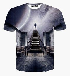 Wholesale Blouse Galaxy - Newest design Men Women's galaxy space t Shirt print see the universe 3D t-shirt summer harajuku creative tee shirt blouse