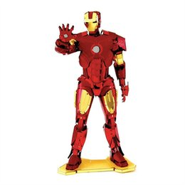 Wholesale Machine Shields - MARVEL IRON MAN,MJOLNIR,CAPTAIN AMERICA'S SHIELD,WAR MACHINE 3D Metal Model NANO Puzzles New Styles Chinses Metal Earth