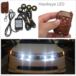 Wholesale Wholesale Strobe Kits - Wholesale- 4in1 Kit 12V Hawkeye LED Car Emergency Strobe Lights DRL Wireless Remote Control New