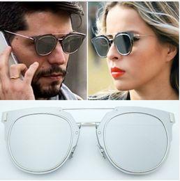 Wholesale Super Star Metal Women - 2017 hot Brand Designer Luxury Composit With Logo Sunglasses for women and men Super Star Cool UV400 and original case De Sol