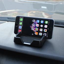 2019 5,5 zoll telefone gps Großhandels-Auto-Telefon-Halter-Armaturenbrett-Antibeleg-Matten-Auflage-Gerät-Handy GPS-Halter-Schwarz-Sitz für 5,5 Zoll-Telefon günstig 5,5 zoll telefone gps
