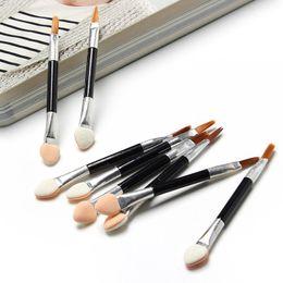 Wholesale Disposable Eyeliner Applicators - Fashion Cosmetic Brushes Women Makeup Eyeshadow Eyeliner Sponge Lip Brush Set Applicator Beauty Double-Ended Disposable wa3022