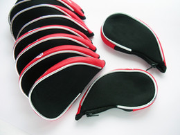 Wholesale Golf Wholesales - customerized woven fabric golf iron cover zip under OEM golf headcover