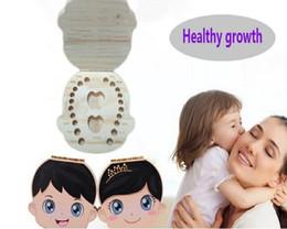 Wholesale Baby Keepsake Wholesalers - Baby& Kids Durable Baby Teeth Box Organizer Wooden Boxes Deciduous Teeth Storage Box