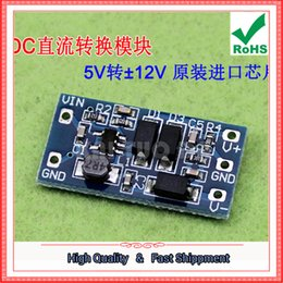 Wholesale Dc 12v 5v Converter - Free Ship 2pcs Power supply module 2.8V~5.5V input positive and negative 12V output 5V turn & plusmn; 12V DC DC converter board