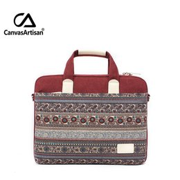 Wholesale New Brand Computer Case - Wholesale- Brand new 15.6 inch mac apple cotton canvas laotop bag and case retro style briefcases notebook top quality unisex business bags
