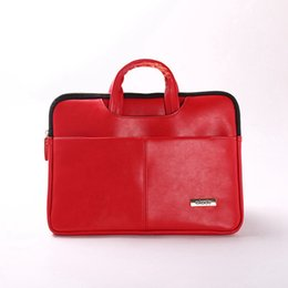 Wholesale 15 Laptop Sleeve Animal - Okade New PU Leather Waterproof Shockproof Laptop Bag 11.6 12 13.3 14 Laptop Sleeve case for Macbook Air 13.3 14.4 Retina Handbag Briefcase
