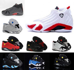 Wholesale Fusion Shoes - 2016 high quality air retro 14 XIV man Basketball shoes Fusion Purple Black Red Air Retro 14 Playoffs Sneakers us size 8-13
