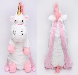 Wholesale Children Stuffed Bags - Unicorn Cute Plush Backpacks 55 CM Cartoon Animal Doll Soft Stuffed Toy Children Kid Fluffy Bag
