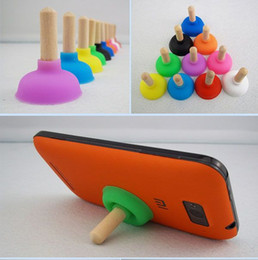 Wholesale Mini Plunger Phone - Free Shipping (2000 piece   lot ) Mini Universal Plunger Sucker Stand Holder For Cell Phone iPhone iPod