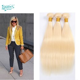 Wholesale Brazilian Blond Weave - 613 Blonde Virgin Hair Brazillian Straight Hair 3 Bundles Honey Blond Brazilian Hair Unprocessed Brazilian Virgin Straight.