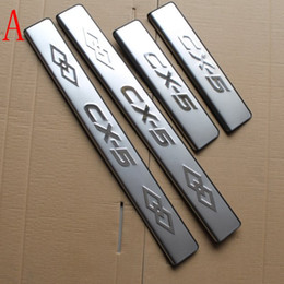 Wholesale Door Pedal - 4pcs Stainless Steel Door Sill Scuff Plate Welcome Pedal Threshold for Mazda S CX-5 CX 5 CX5 2013 2014 2015 2016 Car Accessories