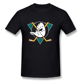 Wholesale Cotton Shirts Cheap - Hot Cheap Men'S Hsuail Men's Mighty Ducks Of Anaheim Logo T-Shirt Novelty Cool Tops Men Short Sleeve T-shirt