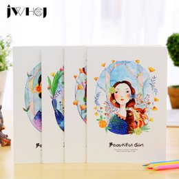 Wholesale Wholesale Book Binding Supplies - Wholesale- 1 pcs JWHCJ Cute Beautiful girl A5 notebook diary cash book notepad memo kawaii stationery school supplies child's gifts