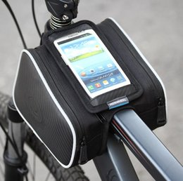 Wholesale Bicycle Frame Pannier - Fashion Roswheel Waterproof 1.8L Cycling Bike Bicycle Front Frame Bag Tube Pannier Double Pouch for 5.5 inch Cellphone 12813