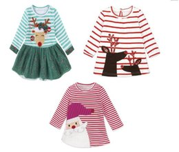 Wholesale Leopard Print Baby Girl Dresses - 6pcs lot(can mix styles and sizes)Christmas girl's dresses Christmas baby girl clothing 4 styles for choose