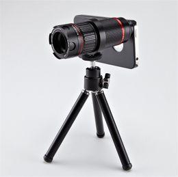 Wholesale Telephoto Camera Case - 4X-12X Zoom Magnification Telephoto Lens for Smartphone Camera Fish Eye Lens with Mini Tripod Phone Case
