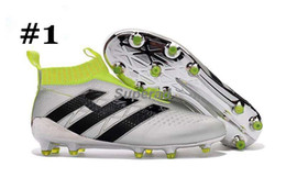 Wholesale Girls Youth Boots - Kid Ace 16+ purecontrol soccer boots Pure Control Football Shoes Youth Soccer Cleats Boots Cheap Original Quality Boy Girl Football Shoes