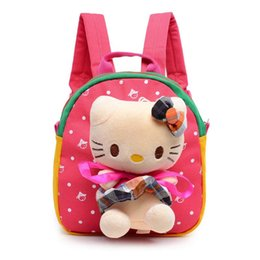Wholesale Boy Maternity - Baby Diaper Cartoon Cat Girl Boy Canvas Travel Brand Kid Feeding Food Storage Bags Mom Mother Plush Maternity Nappy Children Bags S1119