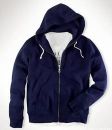 Wholesale Hoodie Horse - Pro Designer New Winter Polo hoodies cotton mens fashion coats Small Horse sweatshirts man Zipper casual hoody men Jacket S-XXL