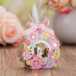 Wholesale birthday favour bags - Wedding favors gifts boxes Flowers wedding candy favor boxes favours candy bags boxes party favor box