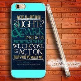 Capa Harry Potter Citations Housse en TPU transparente pour iPhone 7 6 6S Plus 5S SE 5C 4S 4 Housse en silicone. ? partir de fabricateur