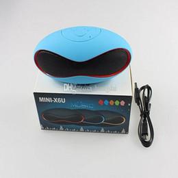 Wholesale Rugby Music - 2015 Speakers Bluetooth Speakers Subwoofers Speakers Portables Music Speaker Wireless With TF Card U Disk Slot Original Mini-X6U Rugby 20pcs