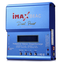 balance numérique chargeur rc Promotion D'origine IMAX B6AC RC Équilibre Chargeur de Batterie B6 AC 80 W Nimh Nicd lithium batterie Balance Chargeur Décharger avec Écran LCD Numérique Hot + B