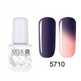 Wholesale Led Color Changing Nail Polish - Wholesale-MSK Gel polish Temperature Chameleon Thermal Color Change UV LED Soak Off Gel Nail Polish 5ml 5710