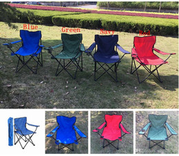 Wholesale Wholesale Foldable Chair - Folding Camping Arm Chair With Cup Holder Outdoor Foldable Fold Up Seat Deck Fishing Beach Chair Outdoor chair b1331
