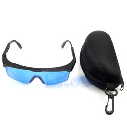 Wholesale Glass Safety Red Laser - Wholesale- 1set 600nm-700nm Safety Glasses Red Laser Protection Goggle With Hard Protect Box Hot