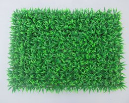Wholesale Artificial Plastic Boxwood Mat - 60cm * 40cm Artificial Grass plastic boxwood mat green grass lawn turf Outdoor Decorative SGS UV Proof Fake Ivy Fence Bush home decor