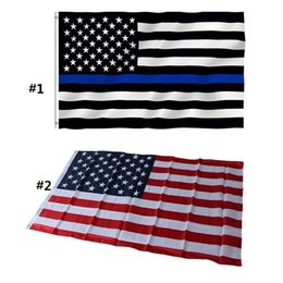 Wholesale Free State Flags - 100pcs free shippingNew 90cmx150cm Polyester USA American Flag US United States Stars Stripes Home Decoration Souvenir Free Shipping