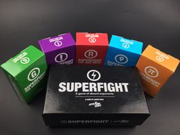 Wholesale Cards Against - SUPERFIGHT Cards Game And The Expansion Pack Red Blue Orange Purple Green The Card Game Core Card Deck Compare To Cards Against free ship