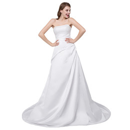 Wholesale Cheap Turkeys - In Stock cheap wedding dress Boat Neck wedding gown Beaded Lace Up Crystal Beaded wedding dresses turkey