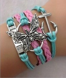 Wholesale Multi Ring Bracelet - New design leather bracelet hot jewelry fashion multi-layer packaging cute charm bracelet for women men Jesus cross a variety of fish patter