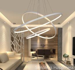 Wholesale Pendant Ceiling Light Fixtures - Modern Circular Ring Pendant Lights 3 2 1 Circle Rings Acrylic Aluminum body LED Lighting Ceiling Lamp Fixtures