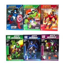 Wholesale N Dc - Avengers Marve l DC Super Hero Building Blocks Bricks Kids Toys Iron Ma n Hul K Captai America Figures Toys Compatible