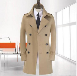 772fb4a14c3e4 High quality autumn khaki slim sexy trench coat mens overcoat business  outerwear popular double breasted mens trench coat big size 8XL 9XL