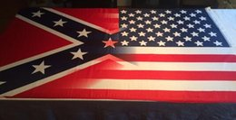 Wholesale Wholesale Confederate Flags - 90x150cm American Flag with Confederate Rebel Civil War Flag new style hot sell 3x5 DHL free