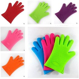 Wholesale Thick Glove Mitt - New Arrival Food grade Heat Resistant thick Silicone Kitchen barbecue oven glove Cooking BBQ Grill Glove Oven Mitt Baking glove