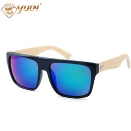 Wholesale Occhiali Da Sole - Wholesale- 2017 fashion summer sun glasses mens handmade bamboo arms glasses hot sale occhiali da sole bambu sunglasses 1037