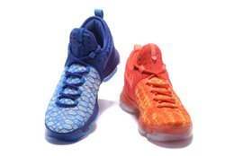 Wholesale Cheap Kds Basketball Shoes - KD 9 Fire & Ice new KD9 What the mens Basketball Shoes High quality Men Cheap Kds Kevin Durant 9 Sneakers for sale