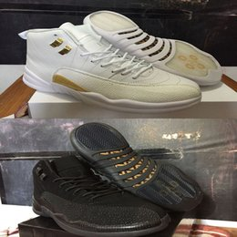Wholesale Free Shoes Online - With Box AAA+ quality 12 man basketball shoes OVO white & black sport sneakers shoes free shipping hot sale online us size 8-13