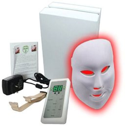 Wholesale Ipl Therapy Led - 2017 Equipme Free shipping LED Beauty Facial Mask 3Colors Lights Rejuvenation machines Therapy Photon ipl Skin remove wrinkle acne removal