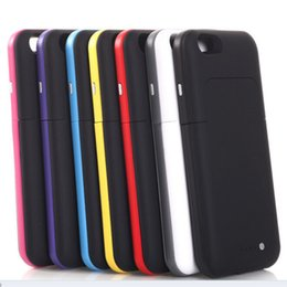 Wholesale Iphone Border Cases - External Battery Case Made for iphone 6 Color Border 3800mAh Wireless Charger Back Clip Lithium Battery Nice and Stylish