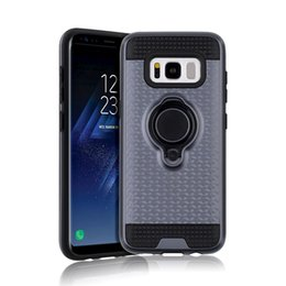 Wholesale Iphone V - 360 Degree Ring Holder Kickstand Case Cover for LG G6 K8 K10 2017 Aristo Phoenix 3 Fortun Risio Rebel 2 LTE MS210 K20 V Harmony LV3 LV5