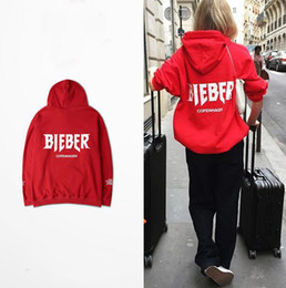 Wholesale Cheap Fleece Hoodies - High Quality Justin Bieber Red Pullover Hoodie Purpose Tour Copenhagen For Womens Mens Cheap Price Sale