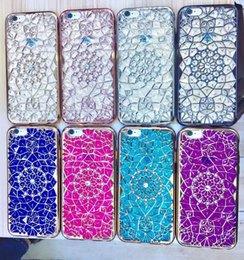 sunflower diamond Promo Codes - For iphone 6 6s 6plus 6s 7 7plus Case Cover Luxury 3D Bling Diamond Sunflower Plating TPU Silicone Back Fundas Phone Accessories