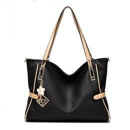 Wholesale Pure White Handbags - Women shoulder bag fashion leisure Hobos lady high quality leather messenger bag pure color elegant handbag Crossbody